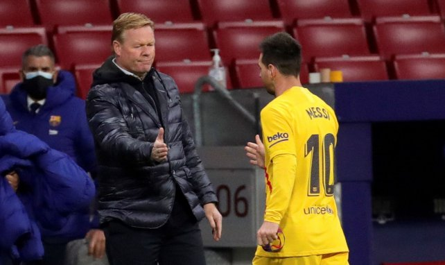 Lionel Messi und sein Coach Ronald Koeman
