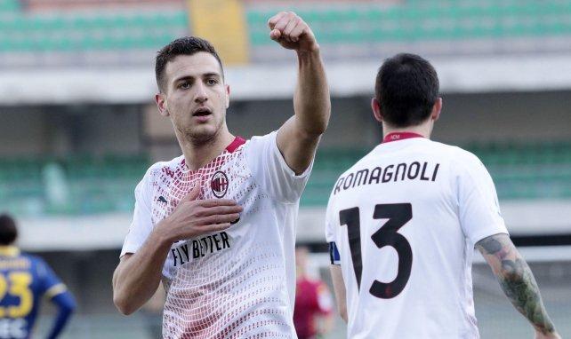 Diogo Dalot im Trikot des AC Mailand