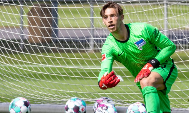 Nils Körber beim Hertha-Training