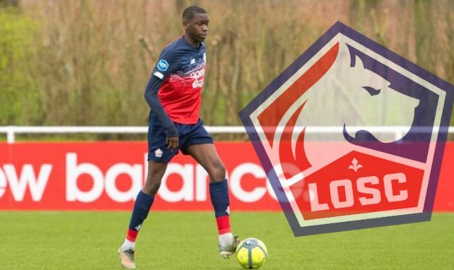 Joel Ngoya am Ball für die U19 des OSC Lille