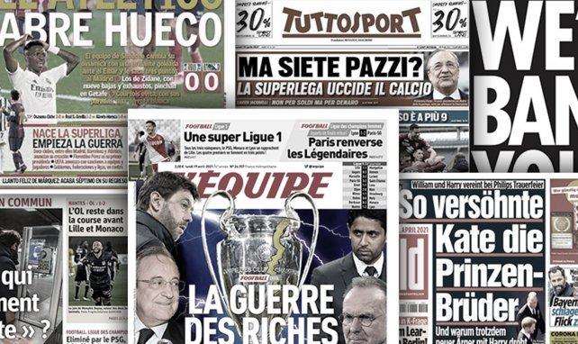 """Pressestimmen: Super League """"der finale Beweis des Größenwahns"""""""
