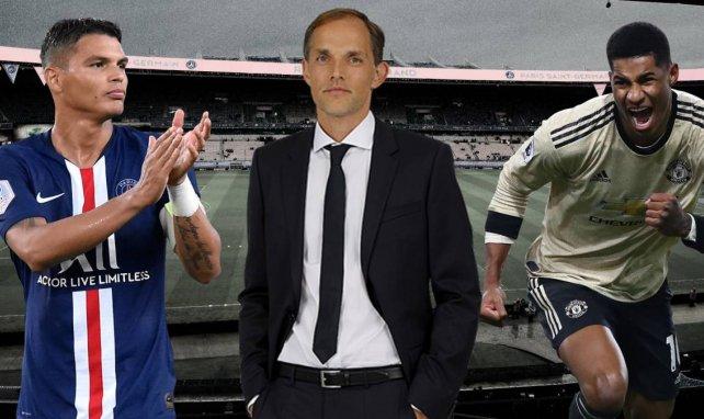 Thomas Tuchel (m.) ist seit 2018 Trainer vom Paris St. Germain