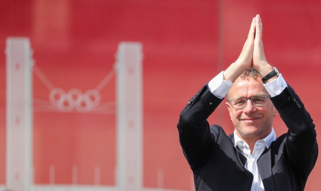 Ralf Rangnick im Zeichen des Olympiastadions