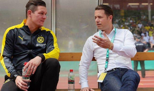 Lars Ricken (r.) ist seit 2018 Nachwuchskoordinator beim BVB