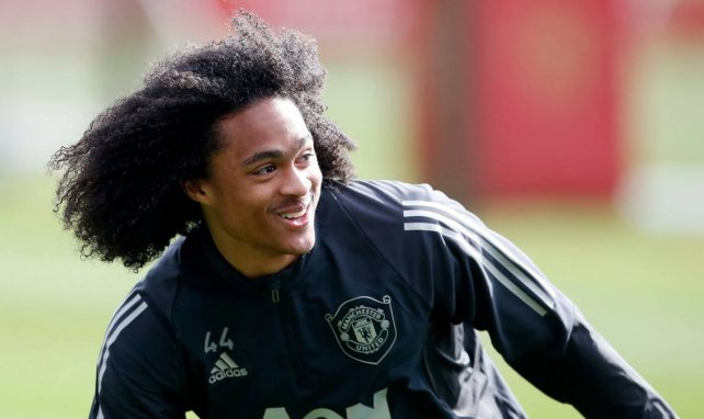 Tahith Chong im Training bei Manchester United