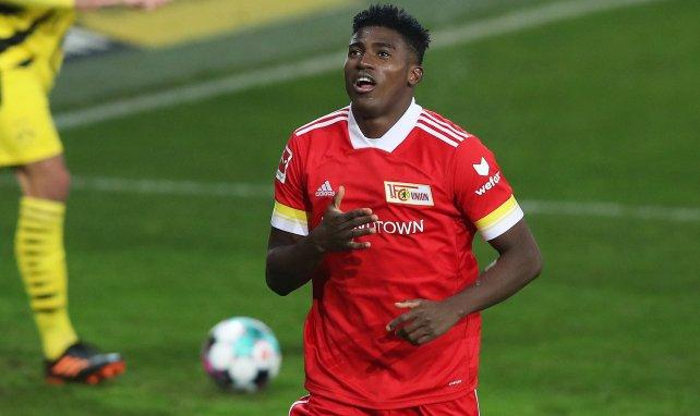 Taiwo Awoniyi bejubelt einen Treffer für Union