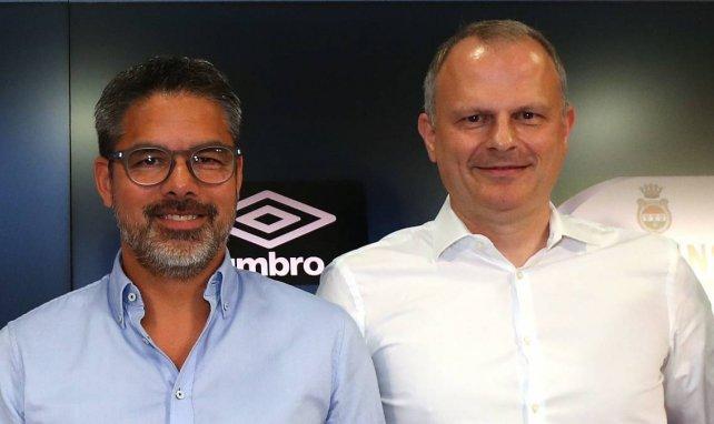 Halten zusammen: Schalke-Trainer David Wagner (l.) und Sportvorstand Jochen Schneider