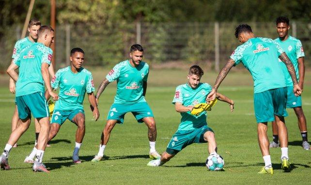 Die Werder-Profis im Mannschafts-Training