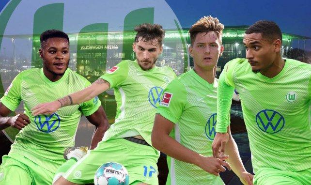 Ridle Baku, Maximilian Philipp, Bartoz Bialek und Maxence Lacroix (v.l.) sind neu in Wolfsburg
