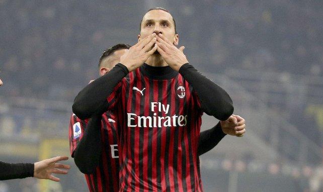 Zlatan Ibrahimovic bejubelt ein Tor für Milan